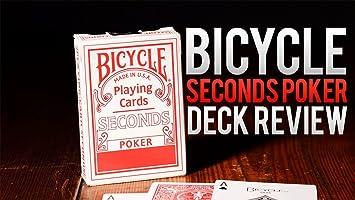 Caja de 12 barajas BICYCLE Second (12 Rojo): Amazon.es ...