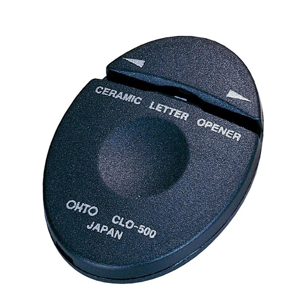 1 X Auto ceramic black letter opener (japan import)