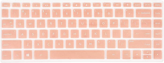 CaseBuy Keyboard Cover Compatible HP Pavilion x360 14M-BA 14M-CD 14M-DH 14-BA 14-BF 14-cm 14-CF 14-DF 14-DK 14-DS 14-DQ Series 14M-DH0003DX 14M-DH1001DX 14M-DH1003DX 14 inch HP Laptop Skin, Rose Gold