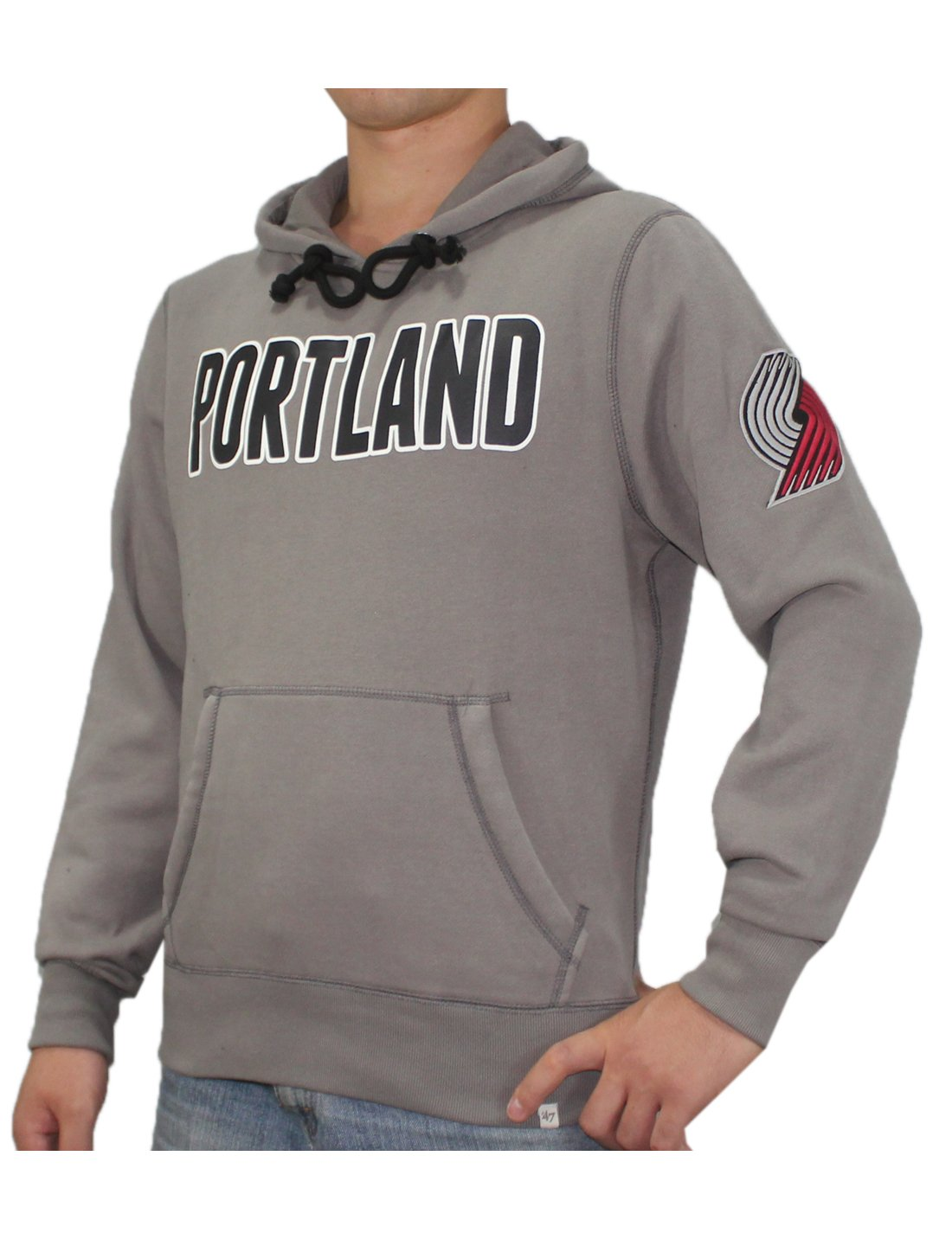 NBA Mens PORTLAND TRAIL BLAZERS: Athletic Pullover Hoodie / Sweatshirt S Grey