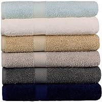 "BEST TOWEL 6-Pack Bath Towels - Extra-Absorbent - 100% Cotton - 27"" x 54"" (Multi, 6 Pack Bath Towel)"