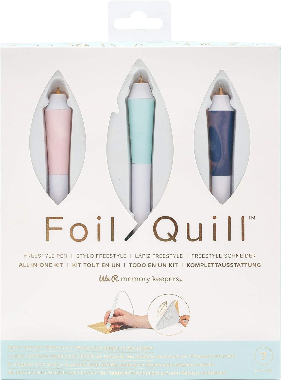 Tape Magnetic Mat Foils 3 Quill Sizes 3 Foil Packs Foil Quill Freestyle Pens /& Magnetic Mat Bundle Design Card