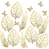 Ling's moment Paper Crafts Foliages Assorted, Big Leaves & Willow & Glitter Butterflies, Paper Flower Decorations for…