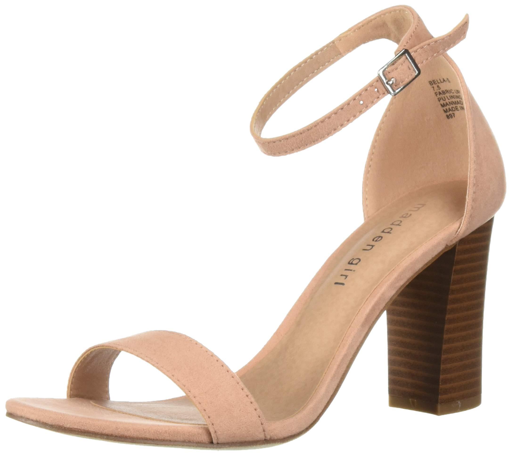817e35e2c1631 Madden Girl Women's BEELLA Heeled Sandal, Champagne Fabric, 6 M US