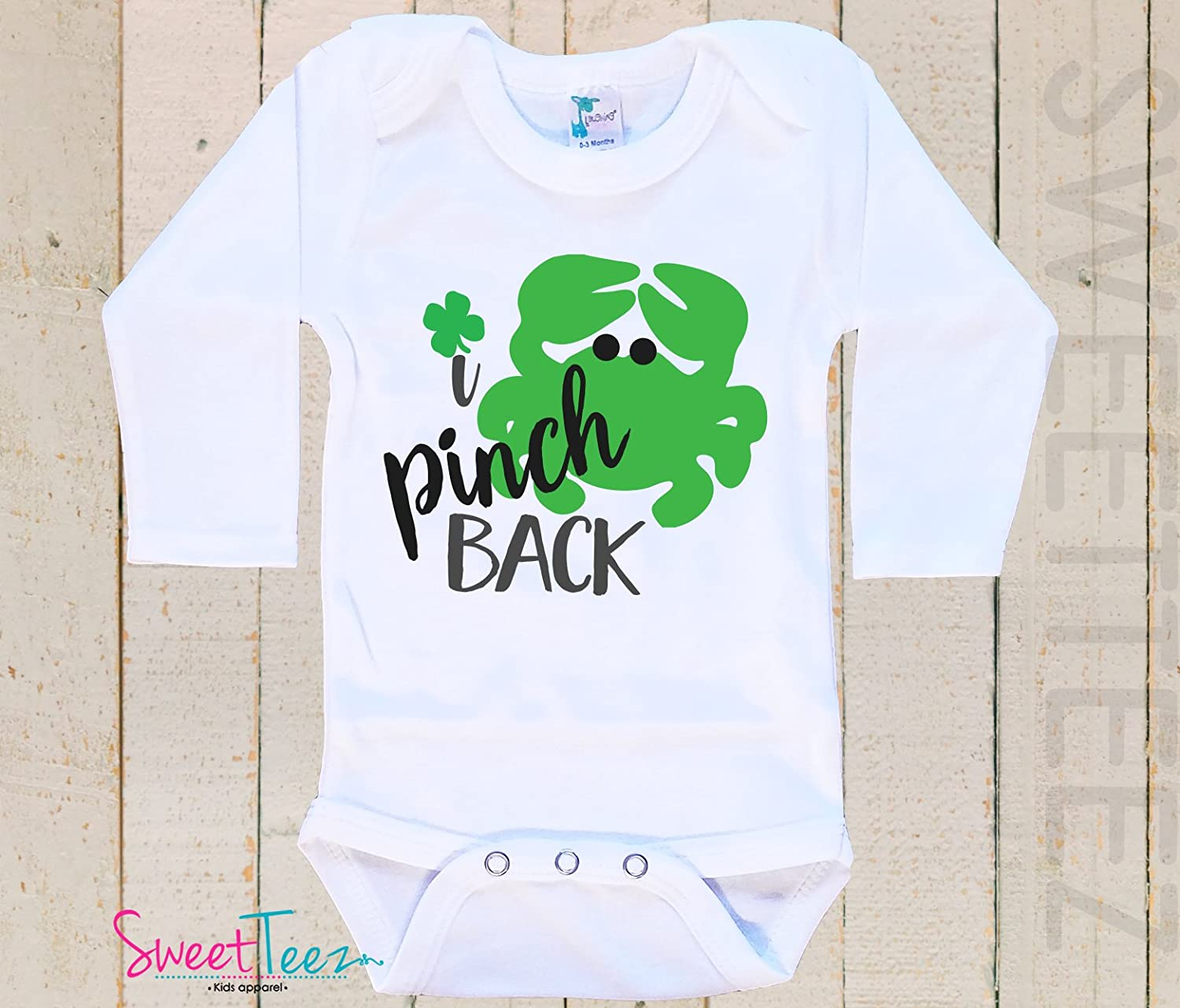 55ea928d3 Amazon.com: St Patrick's Day Shirt for Baby Outfit Funny I pinch Back Top  Gift Long Sleeve: Handmade