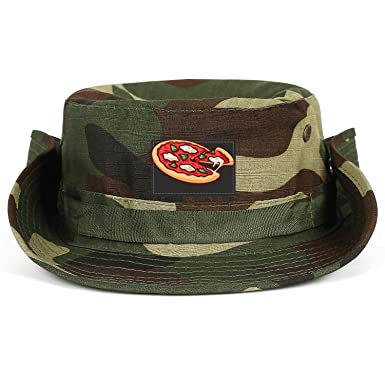 0b8447e0ac58ad SUNIE Pizza Vector Large Brimmed Outdoor Boonie Fishing Hat Foldable Adult  Cap