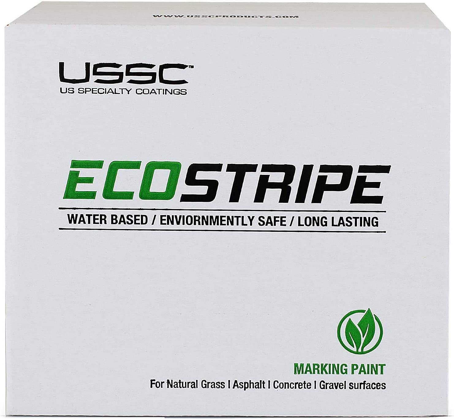 24 Cans Athletic Field Marking Paint Whitest Most Durable Water-Based Marking Paint Available! EcoStripe White The Brightest 2 Pack Case