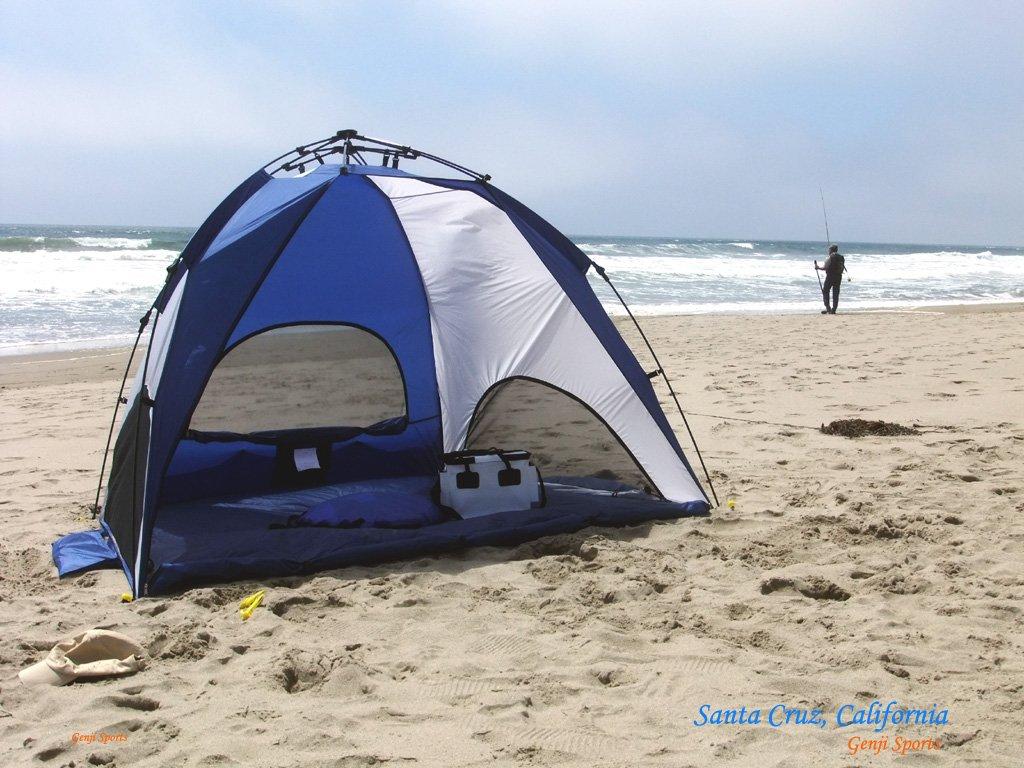 Amazon.com  Genji Sports One-Step Instant Push Up Hexagon Beach Tent (Tall)  Genji Pop Up Beach Tent  Sports u0026 Outdoors & Amazon.com : Genji Sports One-Step Instant Push Up Hexagon Beach ...