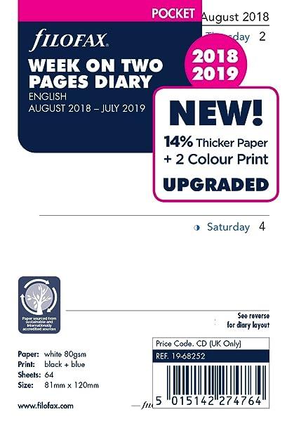 Filofax 19 - 68252 bolsillo semana en dos páginas Inglés de ...