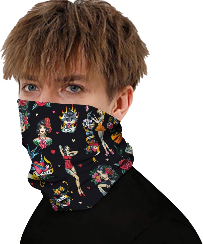Unisex Bandanas Face Mask Fashion Headband Neck Gaiter Motorcycle Mask for Women Men Face Scarf Fishing Mask
