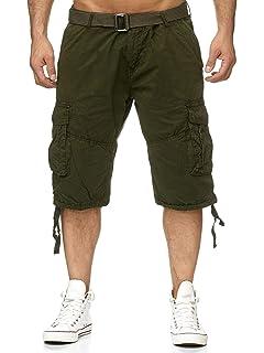 Leo Gutti Herren Jeans Shorts Slim Stretch Kurze Bermuda Hose H2270, Farben:Blau, Größe Shorts:W29