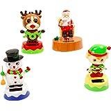 Solar Dancing Holiday Figures Set of 4(Santa, Reindeer, Elf, and Snowman)