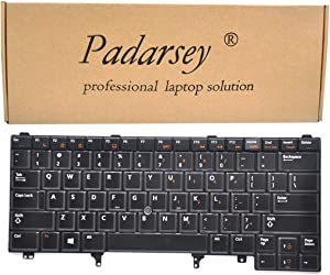 Padarsey Replacement Keyboard Non-Backlit with Pointer for Dell Latitude E5430 E6230 E6330 E6430 ATG E6320 E6420 E5420 E6430s Series Black US Layout