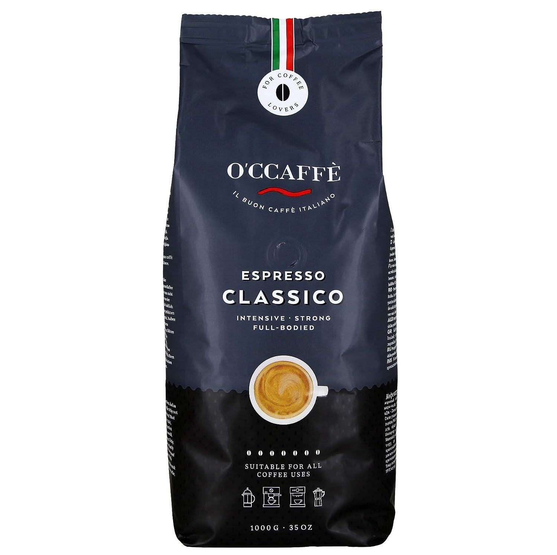 Occaffè Espresso Bar | café fuerte e intenso con una fina nota de avellana | calidad de barista de una empresa familiar italiana | 1kg de granos enteros: ...