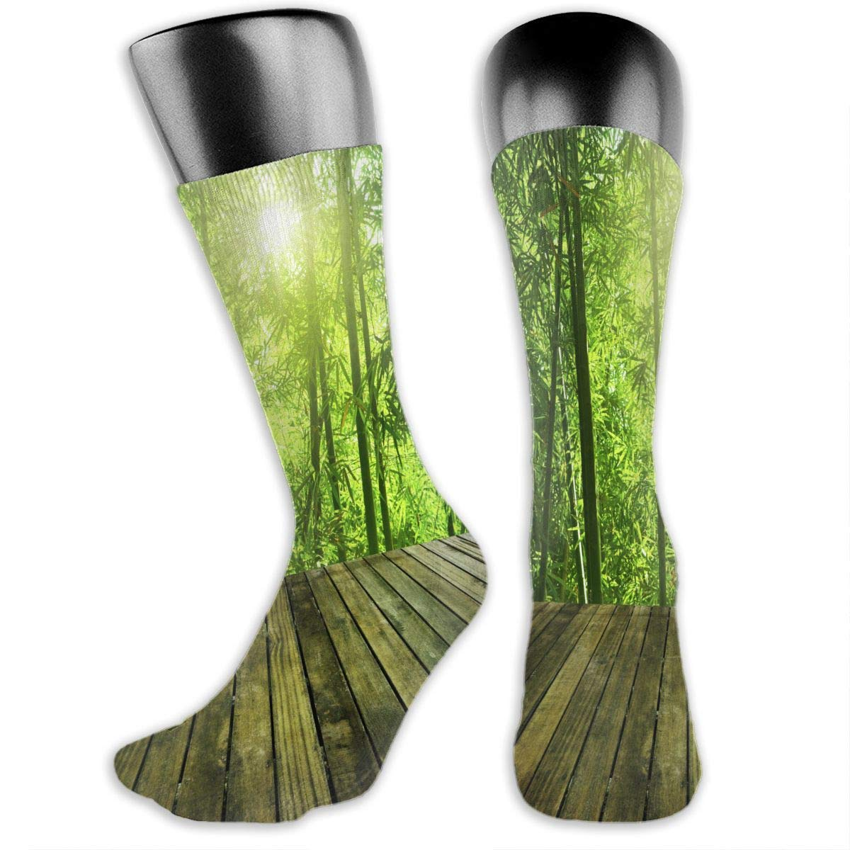 Bamboo Forest Mens Dress Socks Novelty Athletic Socks 15.7