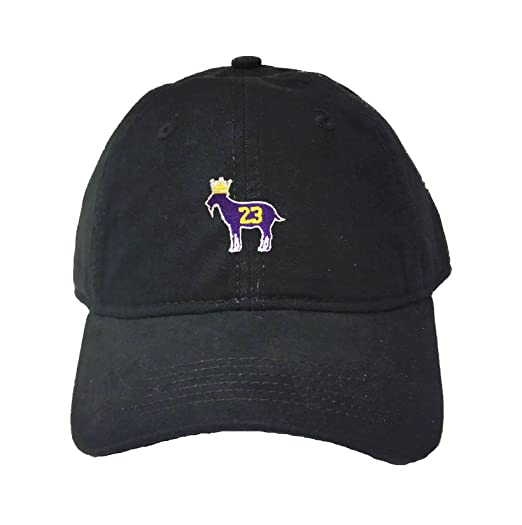 6f5879b97ae Adjustable Black Adult Goat James G.O.A.T. King Embroidered Deluxe Dad Hat
