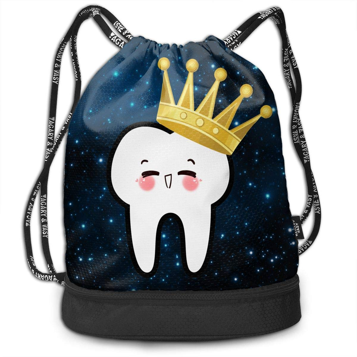 fgregtrg Crown Tooth Molar ort Gym Sack Bag Drawstring Backpack SB1Y5F5IYXIN03R3FM5T