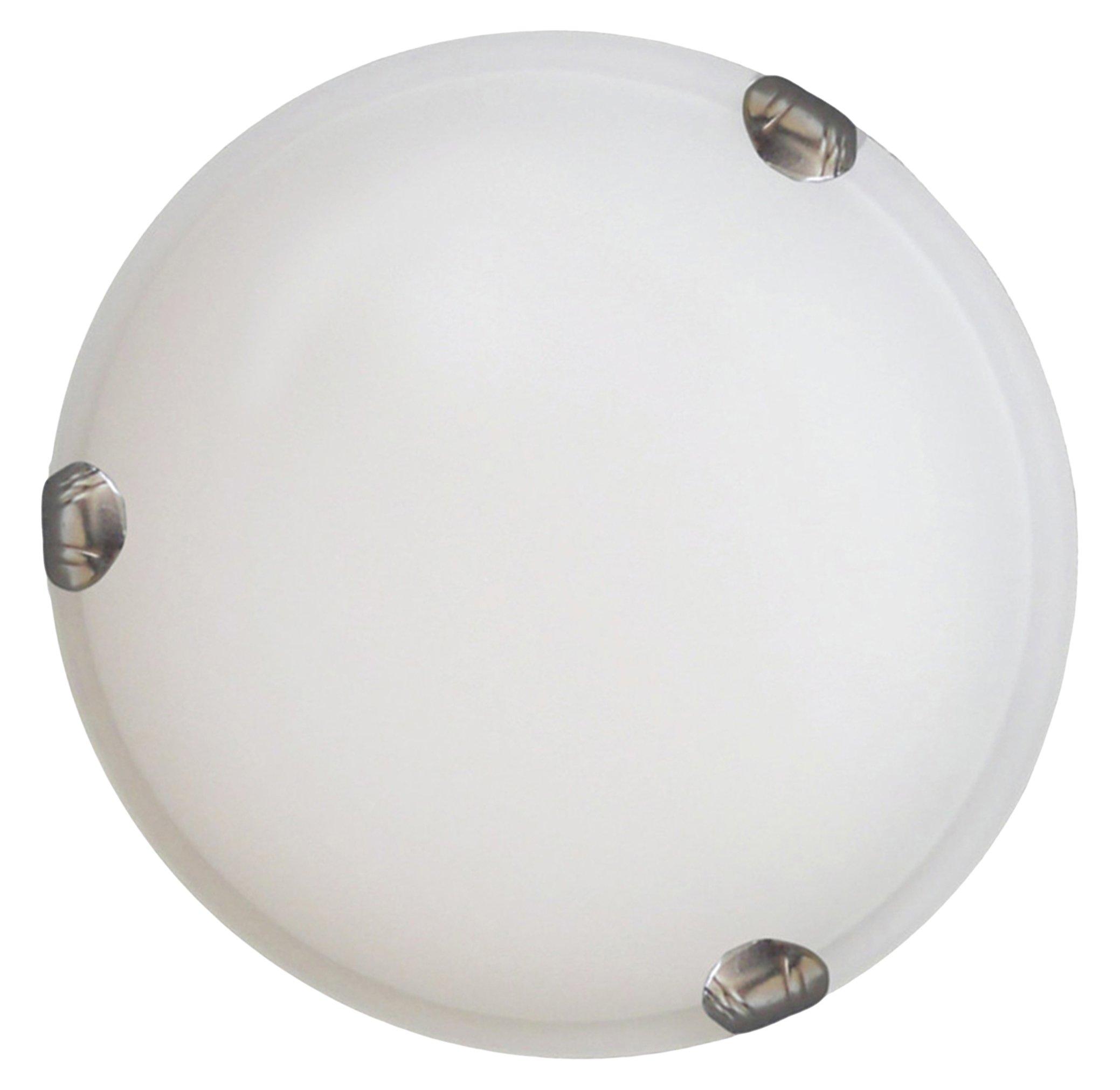 Y-Decor L12SS 2-Light Satin Steel Flush Mount