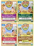 Earth's Best Organic Baby Cereal Bundle: Variety Pack of 4 Different Flavors (4 boxes total)