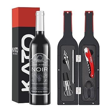 Amazon Kato Wine Bottle Accessories Set Red Wine Corkscrew