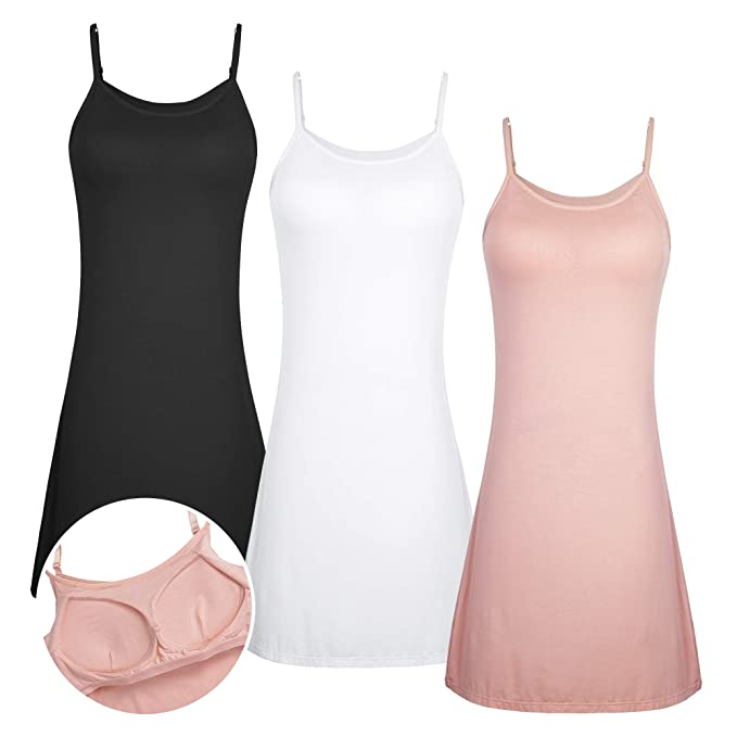 c8ef28393144 3 PCS Mujer Camisón Ropa de Dormir Interior Mujer Enaguas con Sujetador  Color Sólido Enaguas: Amazon.es: Ropa y accesorios