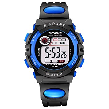 Watches Synoke Branded Hot Sale New Children Watches Cool Kids Watches Black Square Children Digital Kid Watch Boys Watches