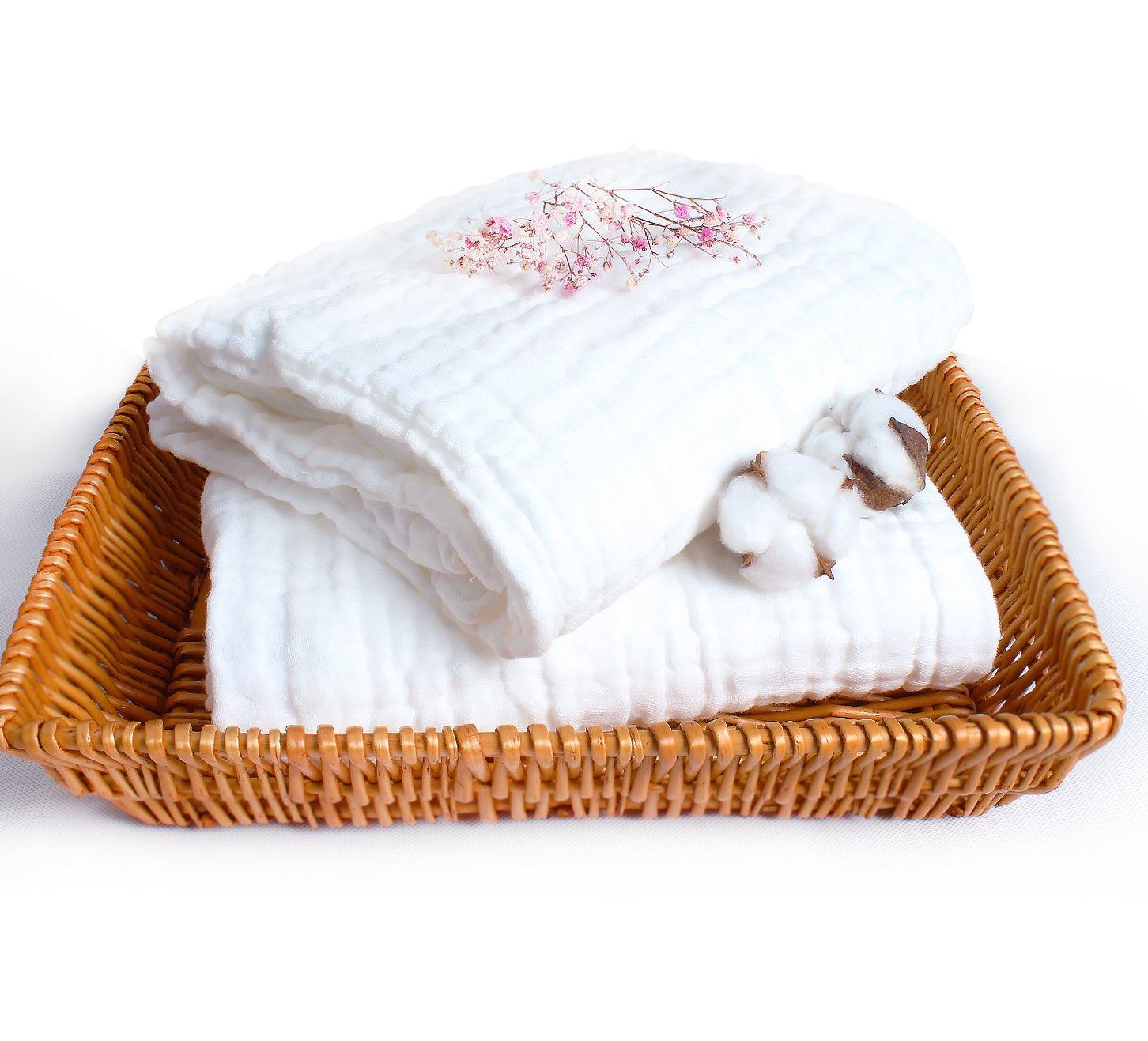 Lucear Toallas de baño para bebés recién nacidos, hechas de algodón, también se pueden usar como sábanas