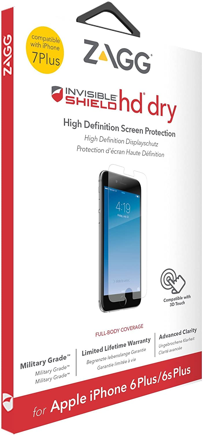 2a466ef4846 invisibleSHIELD Glass + - Protector de Pantalla para Apple iPhone 8 Plus/7  Plus/6s Plus/6 Plus, Transparente: Amazon.es: Electrónica