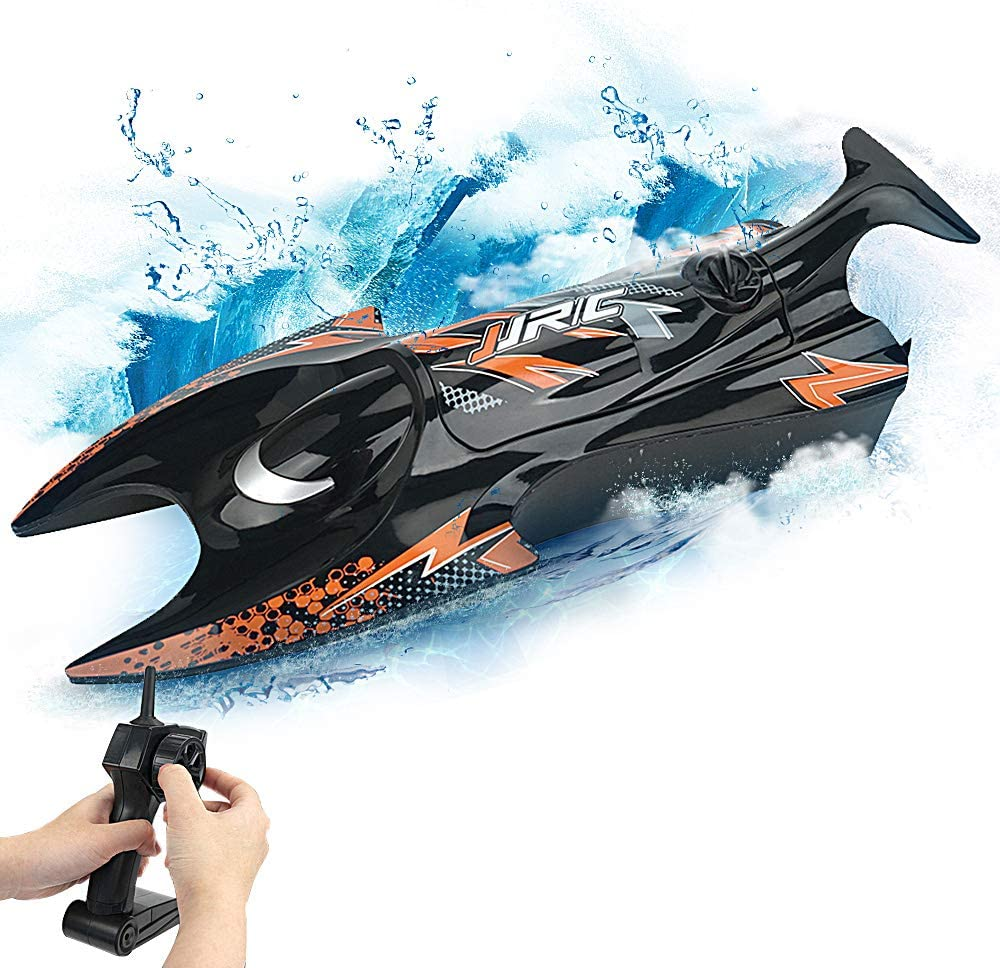 RC Mini Boat 2.4Hz Remote Control Speed Boat Dual Motors Self Righting Racing Boat 15Km/H RC Ship Speedboat Toys for Kids