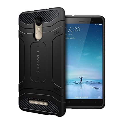 online store 68569 abd05 KAPAVER Redmi Note 3 Back Cover Case Tough Rugged Solid Black Shock Proof  Slim Armor Case for Xiaomi Redmi Note 3