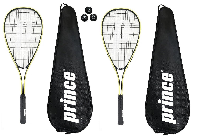 Prince 2 x Power Ti Raquettes de Squash Covers Diverses Options 3 Balles