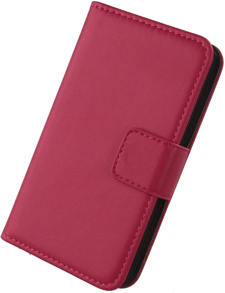 Gukas Genuine Leather Case for Apple iPod Touch 7 Rose Touch 6 Premium Flip Protection Phone Skin Cover Wallet Design Shell with Card Slots