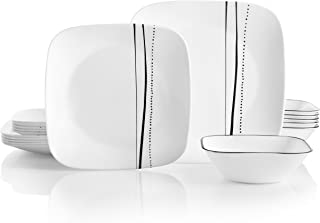 product image for Corelle Service for 6, Chip Resistant, Cascading Lines Dinnerware Set, 18-Piece