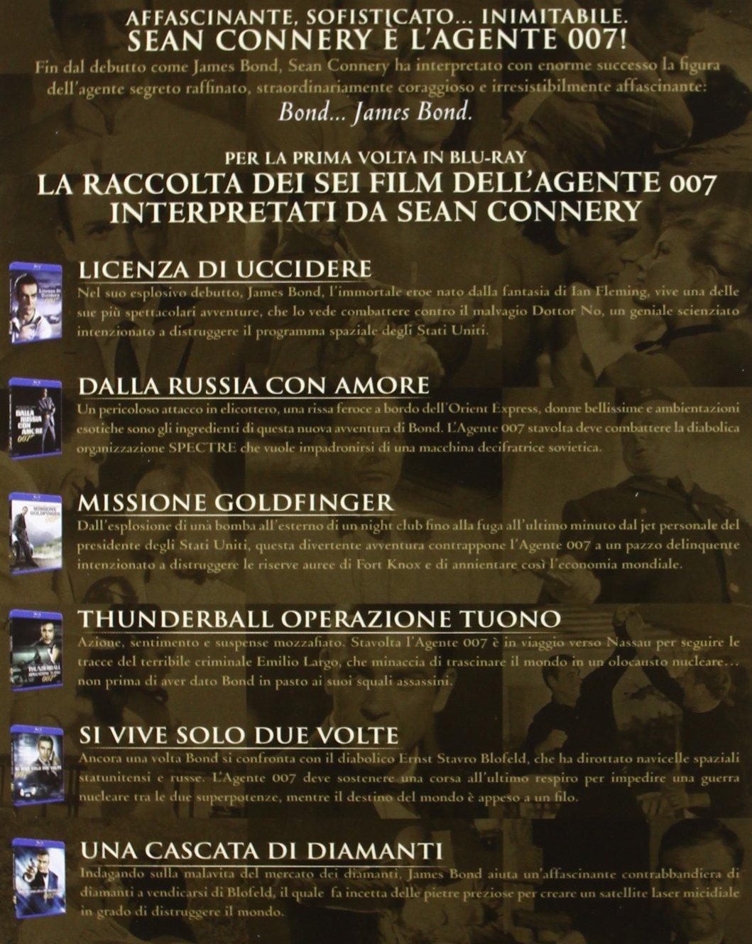 Elicottero 007 : Amazon.com: 007 sean connery 6 blu ray import: movies & tv