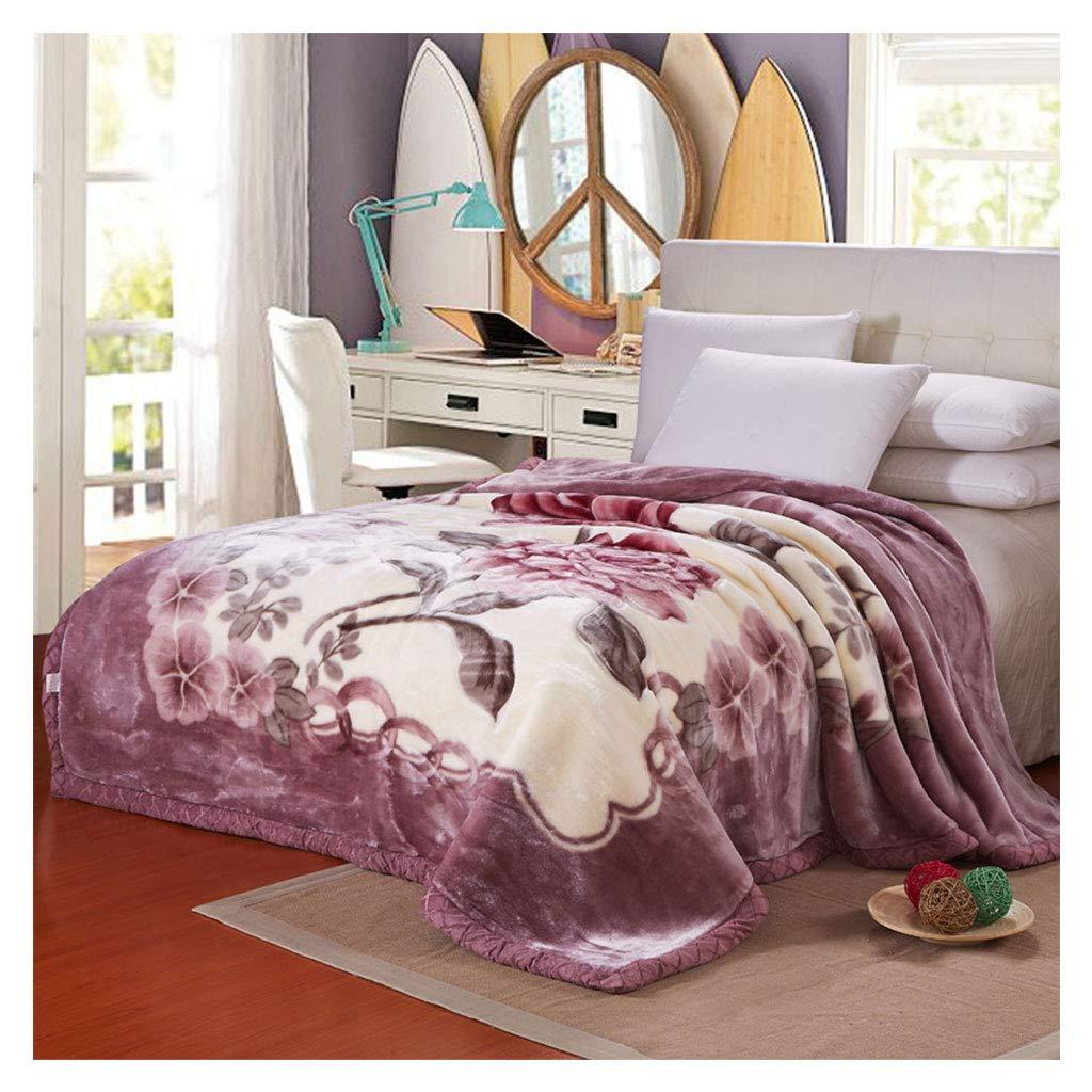 ダブルブランケットRaschelシックソフトふわふわコージー暖かいフラットナップソファーベッド毛布を投げる (サイズ さいず : 200*230センチメートル) B07HKKKC87  200*230センチメートル