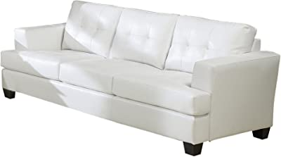 Amazon Com Benchcraft Aldie Nuvella Contemporary Sofa
