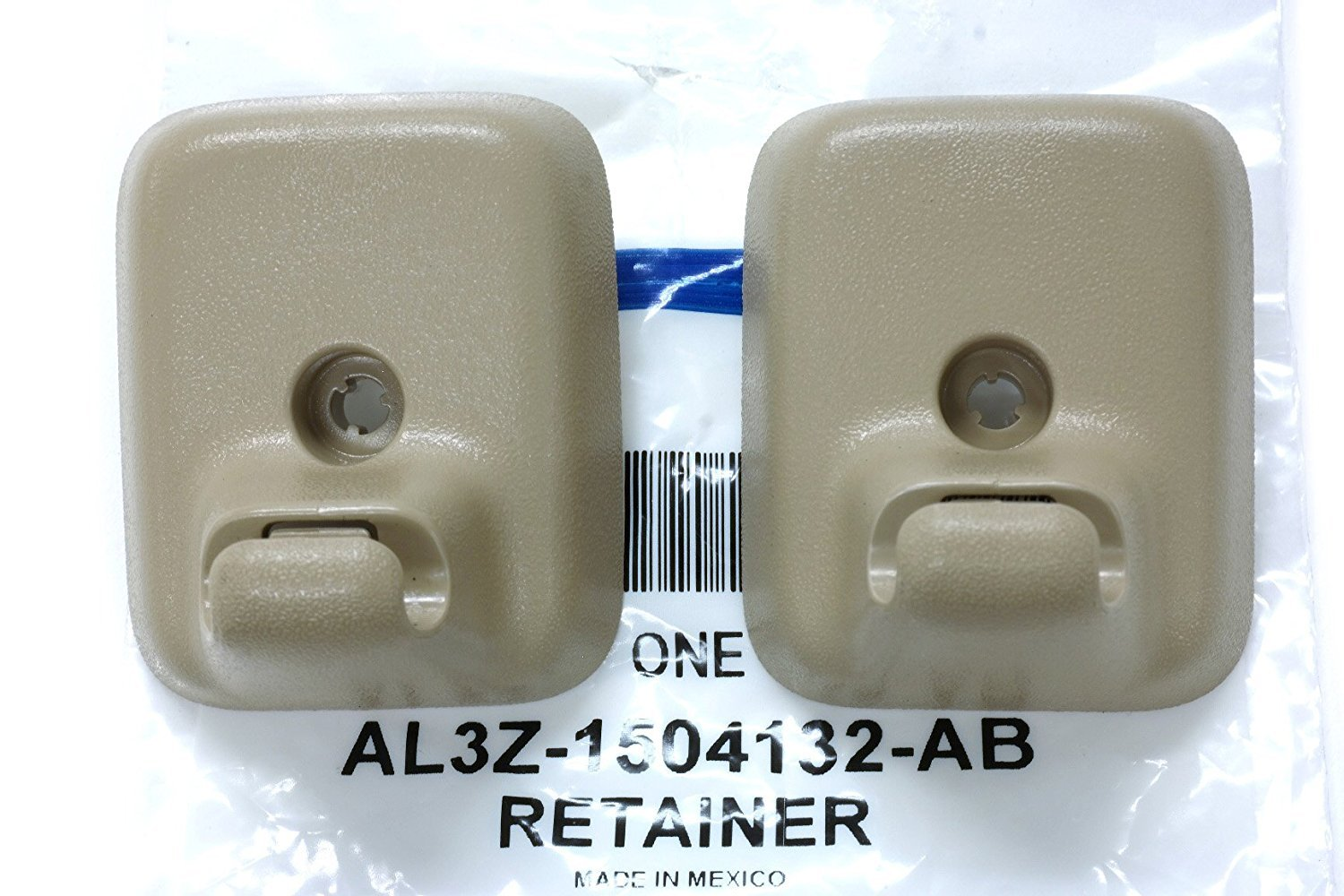 Ford 2009-2014 F-150 Sun Visor Holder Clip Retainers Camel Tan OEM AL3Z1504132AB by Ford