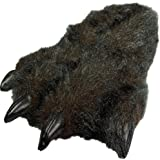 NORTY Grizzly Bear Stuffed Animal Claw Slippers - Plush Paw Slippers - Furry Animal Slippers - Toddlers, Kids & Adults - Cosplay & Everyday Wear