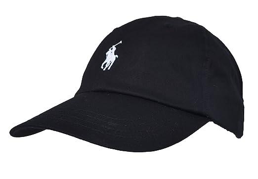 new product cde24 426ba Ralph Lauren Men's Baseball Cap Black Black One Size: Amazon ...