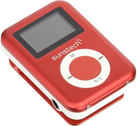Sunstech DEDALO2BT - Reproductor MP3, Color Rojo
