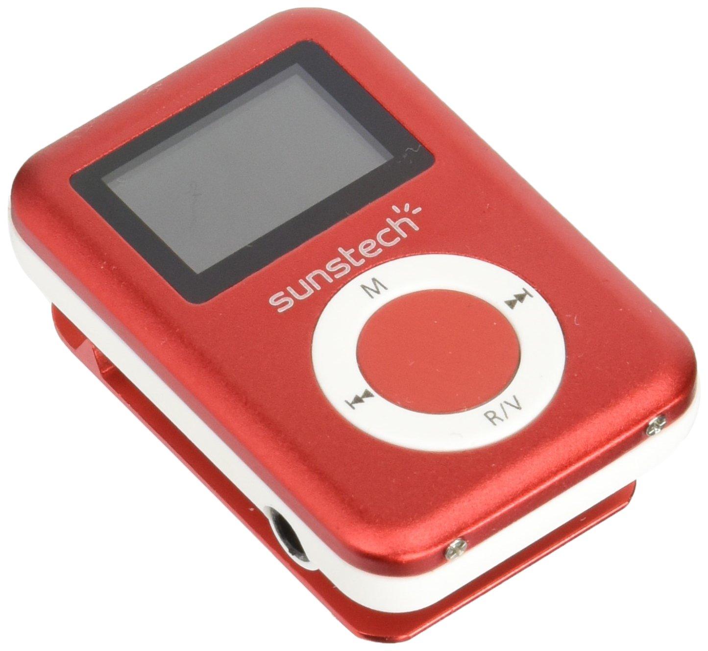 Sunstech DEDALO2BT - Reproductor MP3, Color Rojo