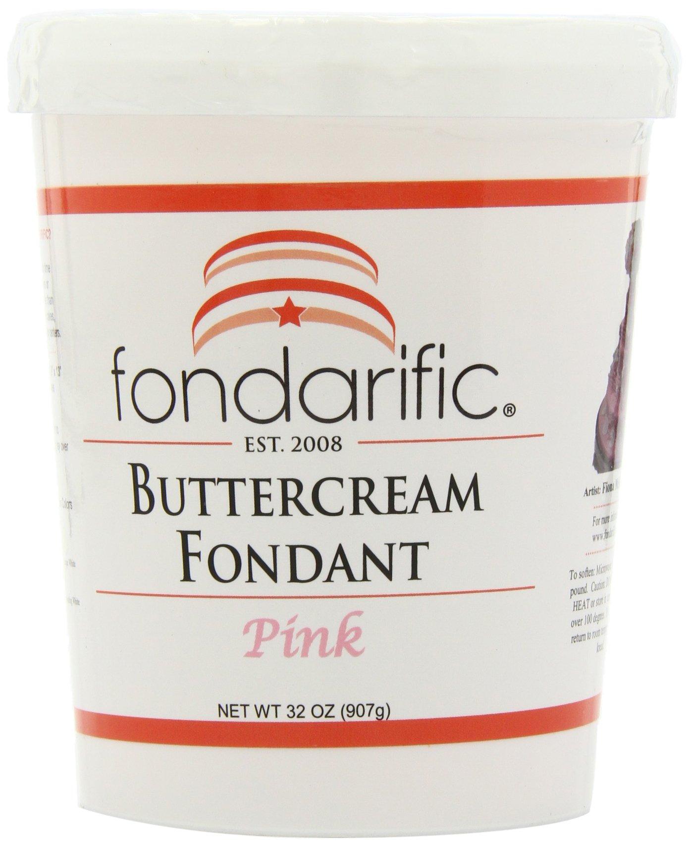 Fondarific Buttercream Pink Fondant, 2-Pounds