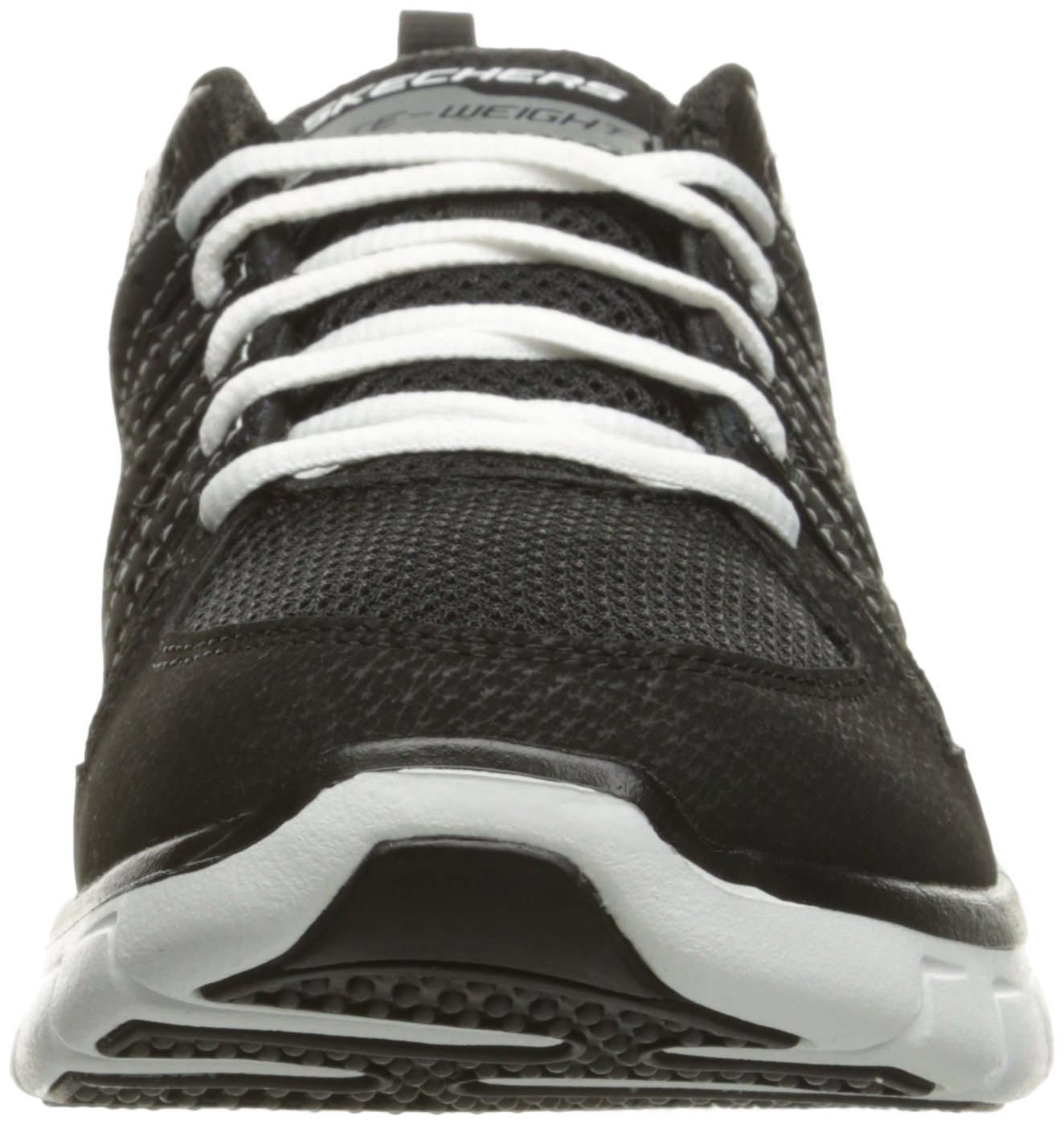 Skechers Sport Women's Synergy Look Book Fashion Sneaker B01HH0VQ1C 10 B(M) US|Black/White