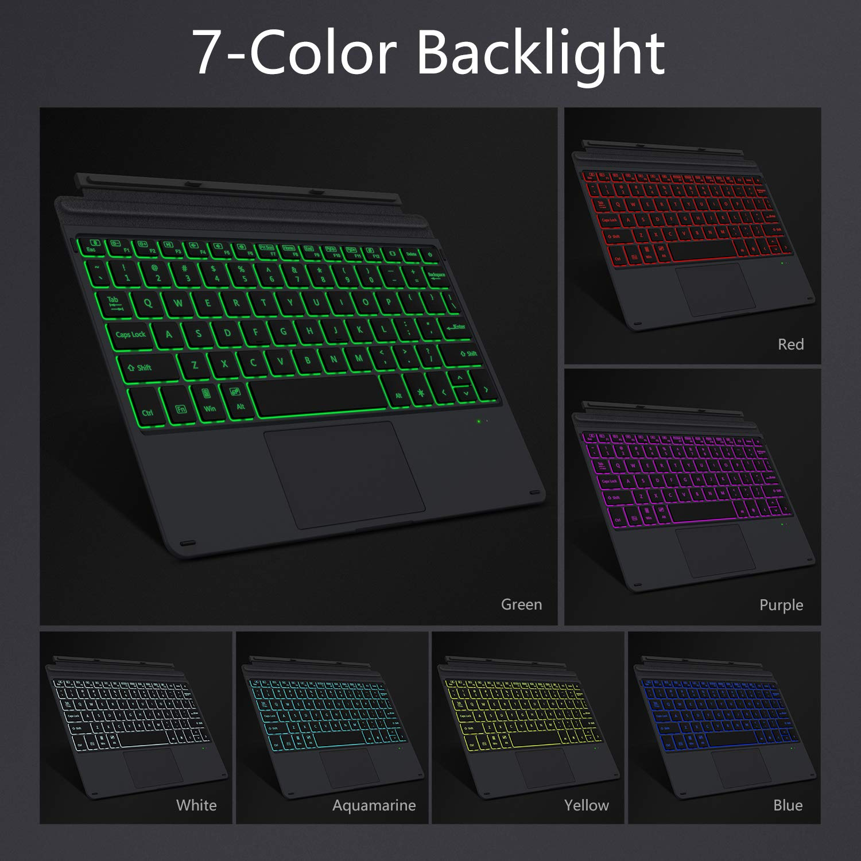 Compatible con Microsoft Surface Go 10 2018 Ultra-Slim Wireless Keyboard MoKo Teclado Inal/ámbrico Bluetooth Compatible conMicrosoft Surface Go 10 2018 Negro QWERTY