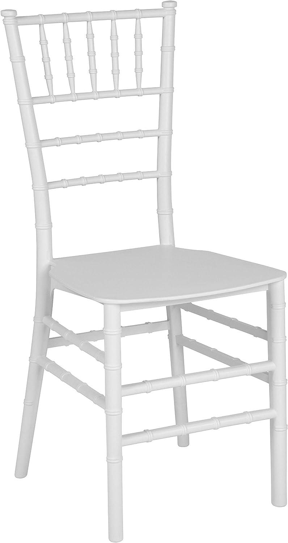 Flash Furniture HERCULES Series White Resin Stacking Chiavari Chair