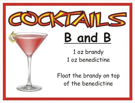 f2367 B y B cóctel bebida PUB CLUB Funny metal publicidad ...