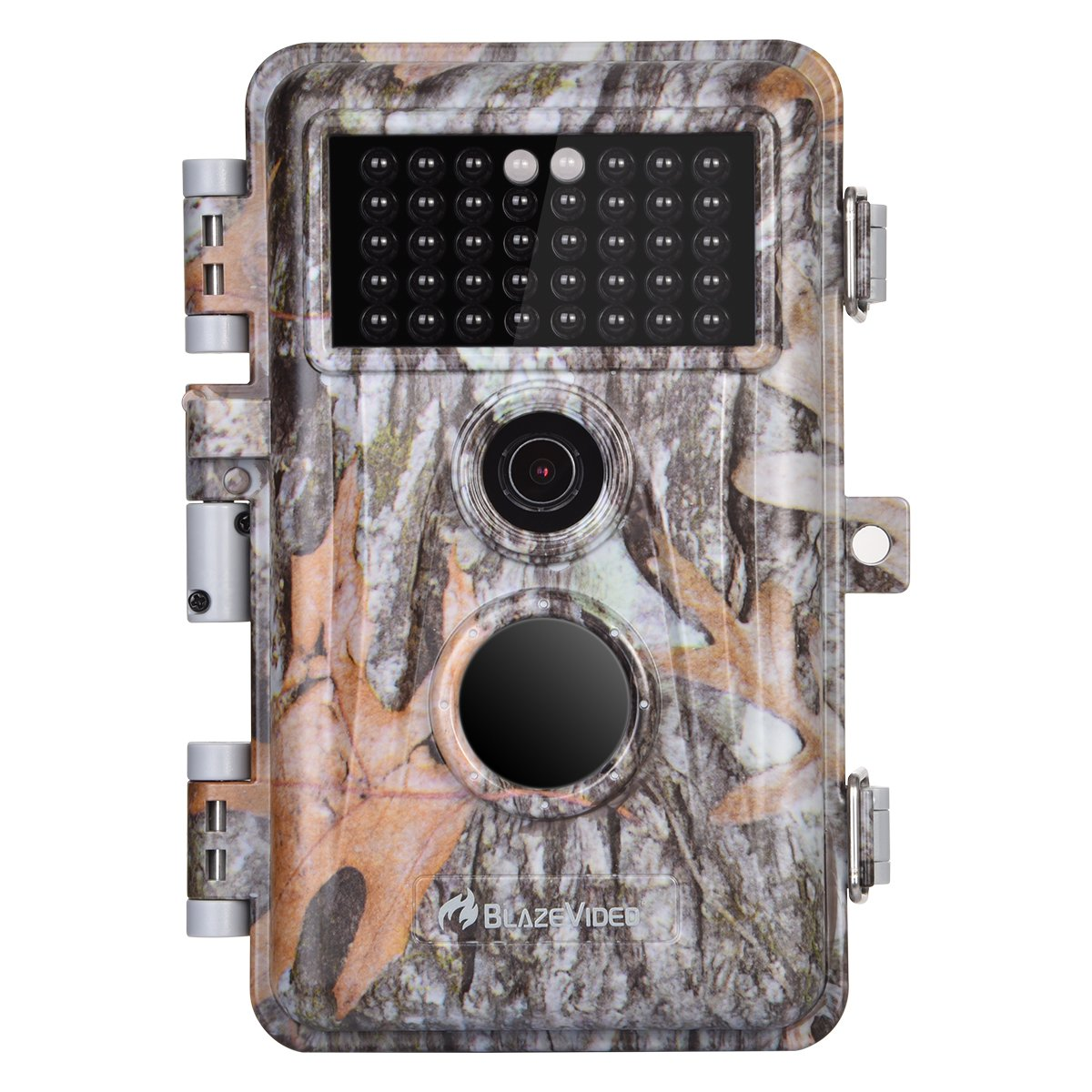 BlazeVideo 2-Pack 16MP HD Trail Hunting Game Cameras Camouflage Cam, Hunters Password Protection Wildlife Deer Animal Cam, PIR Motion Sensor Detection Activated Waterproof with 40PCs Low Glow Infrared LEDs & Up to 65ft Night Vision, Video and Photo Mod