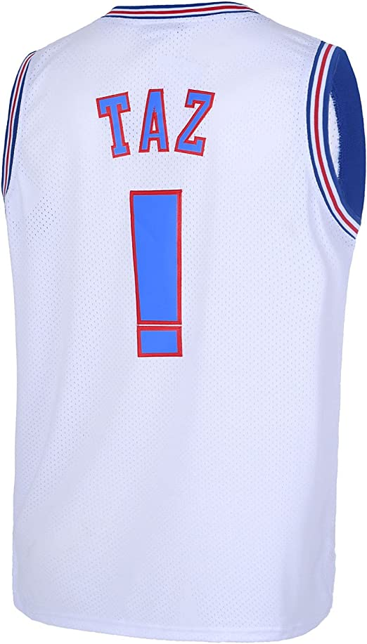 TUEIKGU Youth 1//3 Tweety Space Moive Jersey Kids Basketball Jersey for Boys S-XL White//Black