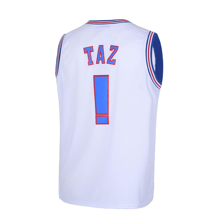 30a390180e0 Borolin TAZ ! Mens Space Jam Jersey Basketball Jersey White | Brusa.pro