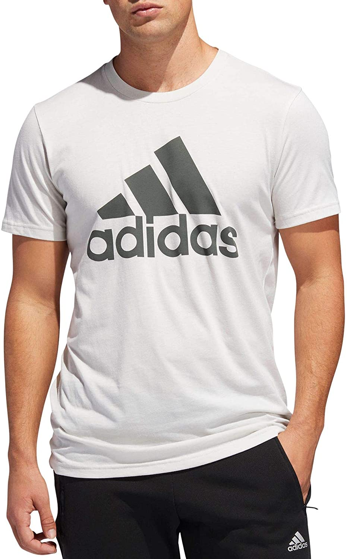 adidas Mens Freelift Badge Of Sport Training Tshirt Crew Tee Top Short Sleeve